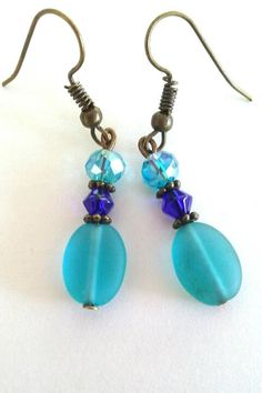 Pretty Blues by TheLoveOfEarrings on Etsy