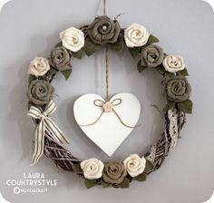 Country style: Diy festa della mamma: wreath of roses