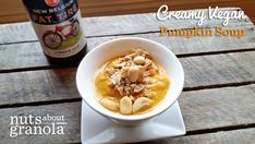 Creamy Vegan Pumpkin Soup with Spicy Thai Peanut Crumble — Nuts About Granola