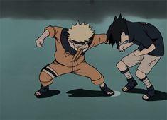 Beat him Naruto! Naruto Vs Sasuke, Naruto Gif, Naruto Shippuden Anime, Itachi Uchiha, Boruto, Sasunaru, Animation Storyboard, Animation Reference, Comic Manga