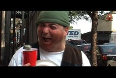 """Actor Marc Raco as a homeless man yucks it up in a scene from the short comedy """"That's My Time"""""""