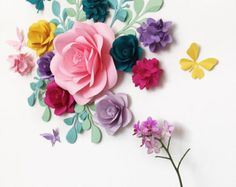 Baby Shower Party Decor - Birthday Party Paper Flowers - Baby room Wall Paper Flowers - Candy Bar Paper Flowers