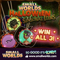 Win A Medusa Wig ( snake hair ), Mad scientist Wig ( gray hair with goggles ), And a knife tiara ( black headband with a knife through it ),