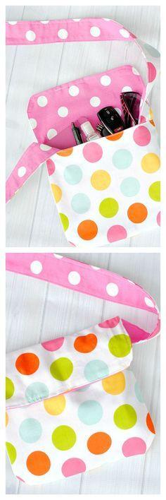 Mini Messenger Bag Tutorial / kleine Handtasche
