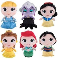 Funko SuperCute Plushies - Disney Princesses Series 1 (Set of 6) *** You can find out more details at the link of the image. (This is an affiliate link) #FunkoPopDisney