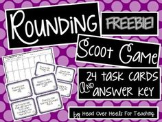 Rounding Up to Ten Thousands Scoot Game {Task Cards} Fourth Grade Math, Second Grade Math, Grade 3, Math Activities, Math Games, Rounding Games, Guided Math, Math 5, Math Tutor