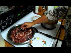 How to make Puerto Rican Carne Frita with Arroz con Habichuelas ( Fried Pork  with  rice and beans )