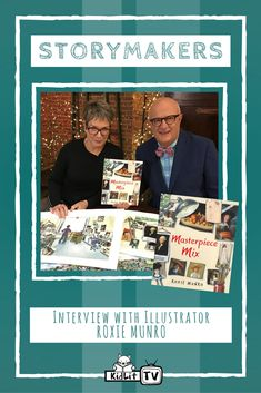 StoryMakers host Rocco Staino interviews the author and illustrator of MASTERPIECE MIX! Roxy, Illustrator, Interview, Author, Tv, Cards, Television Set, Illustrators, Writers