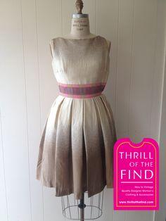 #thrilloftheday #thrillofthefind #pradalove #silk #summerdress #prada Thrill of the Day June 6, 2015 Prada silk dress size 38 $265 Visit Thrill of the Find at 1172 Queen St E, Toronto, ON (416) 461-9313 info@thrillofthefind.com
