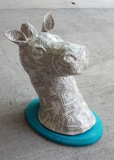 DIY Tutorial - Paper Mache Animal Heads