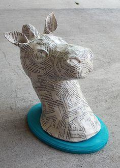 DIY Tutorial - Paper Mache Animal Heads
