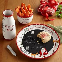 Dear Santa Message Plate Set | Personal Creations - Start a new Christmas Eve ritual by leaving Santa a special message on the cookie plate. He can even write back!
