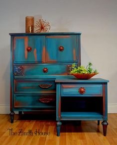 Stunning Blue Color Blended Dresser