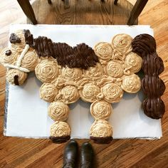 Horse Cake, Birthday Cupcakes, DIY, Spirit Riding Free, Horse Birthday Party, Peanut Butter Cake and Icing
