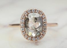 Salt and Pepper Diamonds Are Trending - PureWow Deco Engagement Ring, Rose Gold Engagement Ring, Gold Diamond Wedding Band, Wedding Bands, Jewelry For Her, White Gold Diamonds, Trends, Rough Cut, Salt And Pepper Diamond