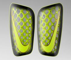 Nike continue to revolutionise performance football equipment by unveiling the Mercurial FlyLite shin guard. A design that utilises the latest. Football Equipment, Football Gear, Football Kits, Nike Football, Sports Equipment, Fitness Equipment, Nike Design, Sport Design, 3d Design