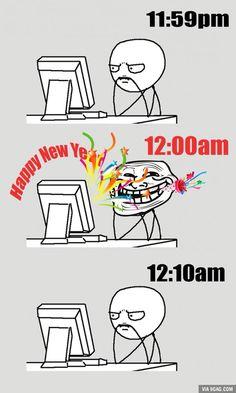 Happy new year. Rage