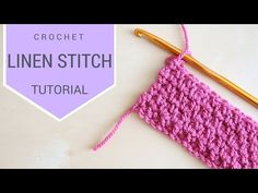 CROCHET: Linen (Moss) Stitch tutorial | Bella Coco - YouTube