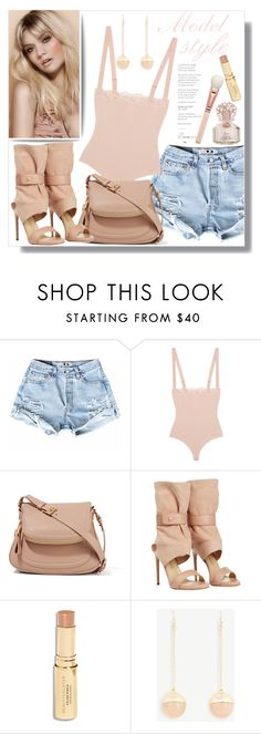 """""""Blush: Model Style"""" by queenvirgo ❤ liked on Polyvore featuring Wolford, Tom Ford, Paul Andrew and Ann Taylor"""