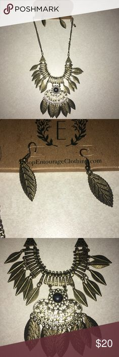 Entourage necklace set Brand new; still in original packaging. Necklace comes with matching earrings. Jewelry Necklaces