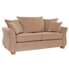 Modern Sectional Sofas Icon Designs St Ives Vienna Seater Scatter Back Sofa Bed in Mazurka Beige