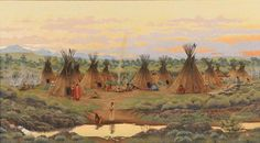 Charles Frizzell Native American Sioux Painting