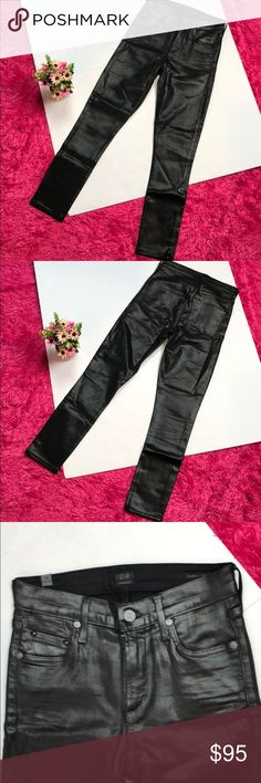 "COH Black Rocket Coated High Rise Jeans COH Black Rocket Coated High Rise Jeans  Size 26   Waist is approximately 13"" Rise 10"" Inseam 27""  Excellent condition Citizens Of Humanity Jeans Skinny"
