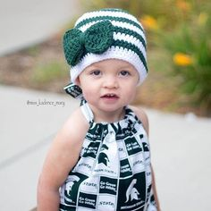 bd08efafefe Michigan State Baby Hat Newborn Child Girl   Adult Crochet Beanie Spartans  MSU