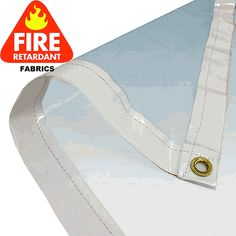 12 x 20 Clear 20 Mil, PVC vinyl is perfect for use with patio enclosures and backyard gardens. The crystal clear PVC material is made of heavy-duty 18 Oz. flame resistant fabric and contains brass grommets around all four edges. Vinyl Fabric, Pvc Vinyl, Diy Pergola, Pergola Cover, Pergola Ideas, Patio Ideas, Wooden Pergola, Pergola Kits, Porch Ideas