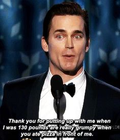Matt Bomer gave a loving acceptance speech. | The 22 Most Important Things That Happened At The Golden Globes