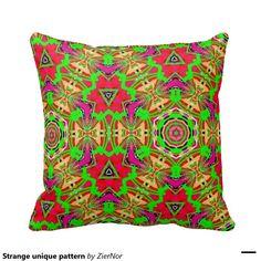 Strange unique pattern pillow