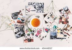Photography Collection Scattered Table Aerial Concept