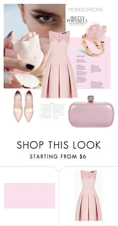 """pink"" by gabrielleleroy ❤ liked on Polyvore featuring BCBGMAXAZRIA and Alexander McQueen"