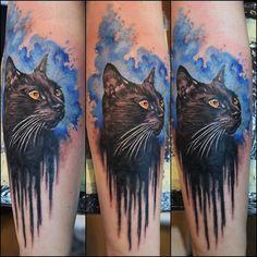 @zimnytattoo #cat #cattattoo #watercolor #watercolortattoo #baba_tattoo #babanarowerzetattoo #tattoo #tattooink #tattooart #tattoos #tattooartist #ink #inked #inkedup #kot #blackcat #l4l #f4f #wrocławska25a #poznań #staremiasto by baba_tattoo