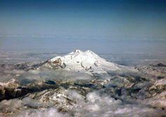 Caucasus. Elbrus. View from the southwest to the northeast. ===================== Кавказ. Эльбрус. Вид с юго-запада на северо-восток.
