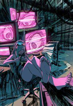 Cyberpunk Hacker Girl By Toni Infante