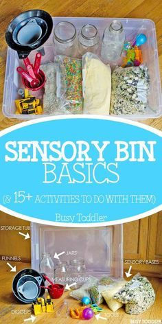 Sensory Bin Basics: What You Need to Have in your sensory kit for easy and quick toddler activities