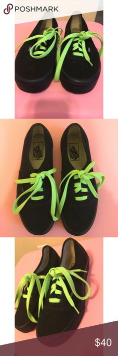 2f1b91bed106f9 NWOT Black Vans These black Vans were only worn a couple of times for a  dance