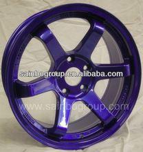 Attractive Volk Rays TE37 Car Alloy Wheels With Purple Finish