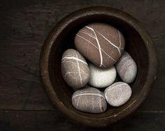 stripped rocks for zen garden