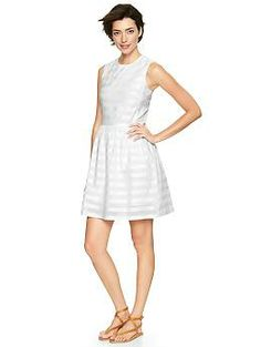 From the Gap & perfect for Spring & Summer!! Love it! Stripe dobby fit & flare dress
