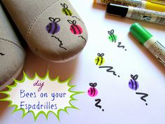 Bees on my Espadrilles!