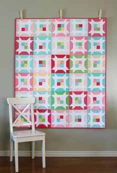 Little Miss quilt - can be made with either a jelly roll or a layer cake!
