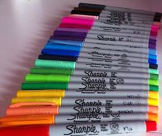 Sharpies Ultra-thin point.  You can NEVER have too many!!