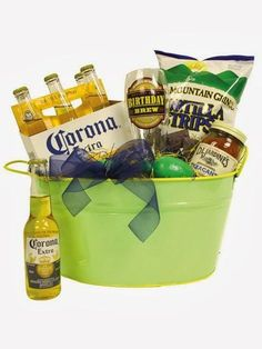 One of the prizes could be the unbeerly cute peanut basket with mixed nuts and mixed drinks.