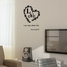 wallsticker loveheart Wallpaper interior Design