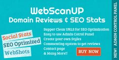 WebScanUP is a powerfull domains review and seo stats checker that allow you to collect different SEO statistics like google page rank, alexa rank, whois info and Social Stats like facebook likes, tweets, google plus count and many more stats!