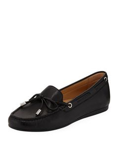 Michael Michael Kors Sutton Napa Leather Moccasins Women's Pumps, Heels, Napa Leather, Leather Moccasins, Michael Kors Shoes, Giuseppe Zanotti, Neiman Marcus, Luxury Fashion, Loafers