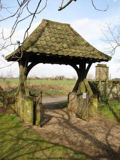 Lych gate at Shropham Church in Norfolk Timber Gates, Wooden Gates, Norfolk England, Entrance Gates, Great Britain, Ancestry, Countryside, Gazebo, House Design