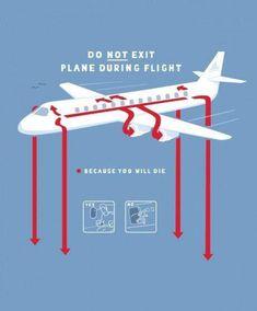In-Flight safety tip | Aviation Humor